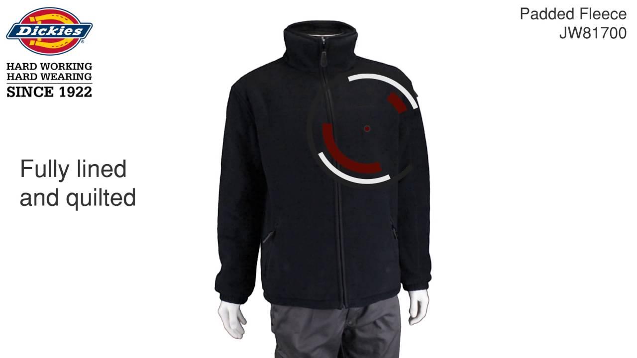 Various Sizes Dickies Mens Padded Fleece Black or Navy Blue JW81700