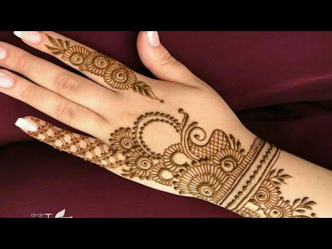 arabic stylish simple mehandi designs