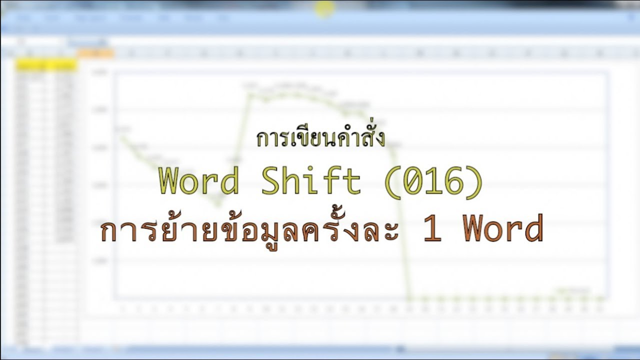 วิธีเขียนคำสั่ง Word Shift เพื่อย้ายข้อมูลครั้ง 1 Word ใน PLC