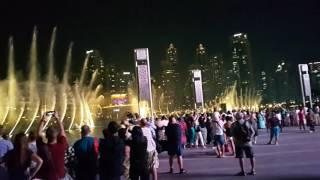 Dubai Fountain show Arabic song 7.00 p.m. 13.10.2016