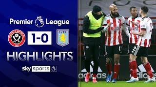 McGoldrick earns 10-man Blades vital 3-points! | Sheff Utd 1-0 Aston Villa | EPL Highlights