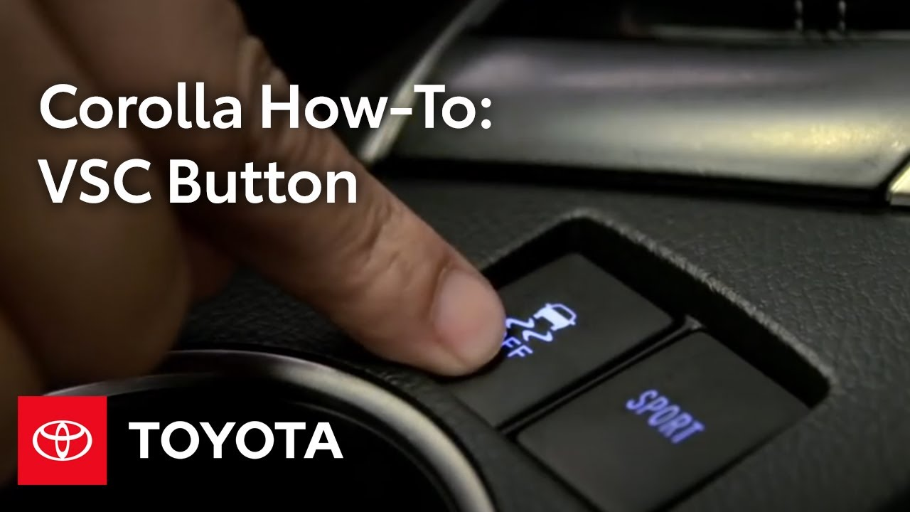 When to use the VSC OFF button in your Toyota vehicle