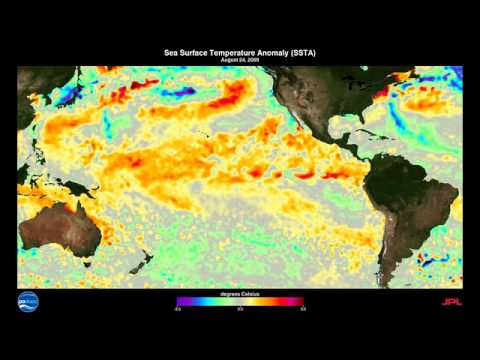2009-2010 El Niño-Southern Oscillation (ENSO) Sea Surface Temperature Anomalies (SSTA)