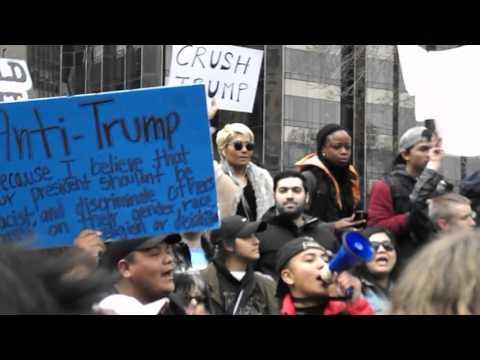 Anti-Donald Trump Rally in Columbus Circle!