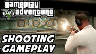 GTA 5 Gameplay Adventure - Gun Shooting Range, Assault Rifle, Minigun, LMG, Shotgun, Pistol etc