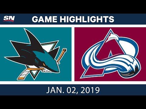 NHL Highlights | Sharks vs. Avalanche - Jan. 2, 2019