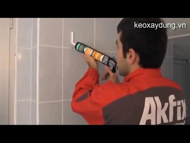 Cách gắn gương bằng Keo dán đàn hồi Ms Akfix