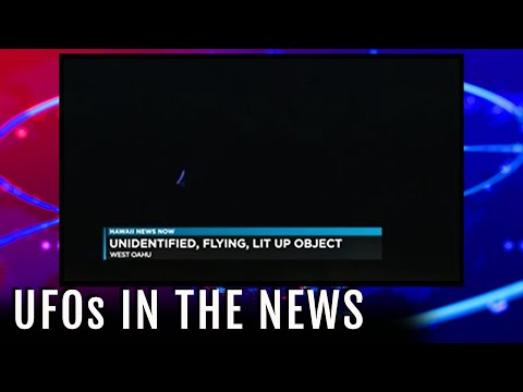 TV UFO News Report: Blue UFO Seen Going Into Ocean in Hawaii