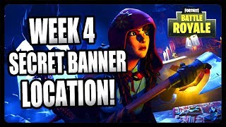 FORTNITE SECRET BANNER LOCATION FOR WEEK 4 SEASON 6! FREE BATTLE STAR LOCATION FORTNITE!