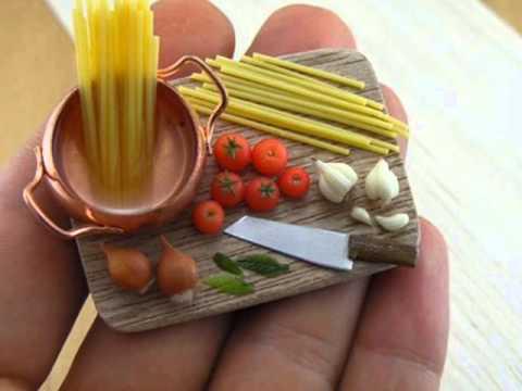Comida en miniatura youtube for Cocinas chiquitas