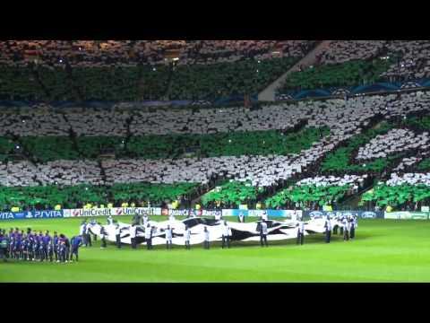 Celtic v Barcelona fan footage