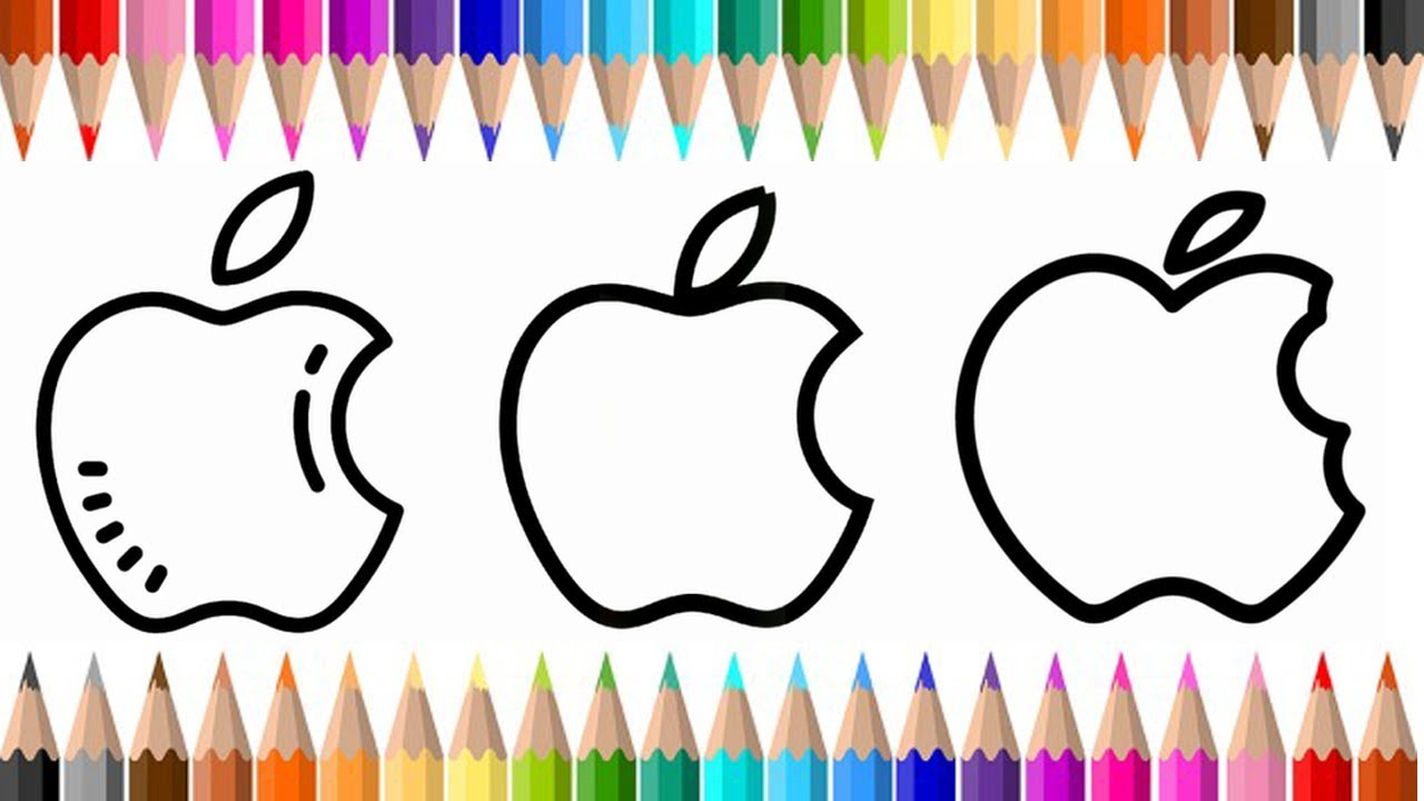 How To Draw And Color Apple Logo Coloring Books