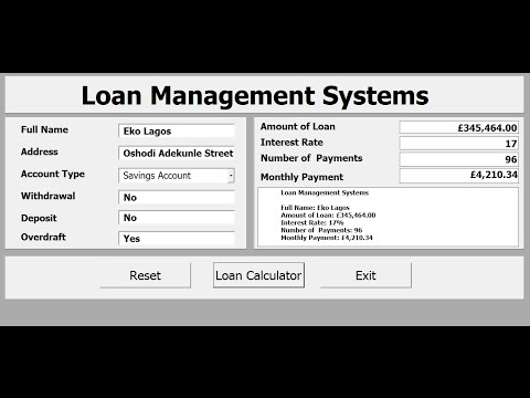 How to Create Loan Management Systems with Excel VBA - Full