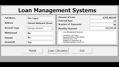 How to Create Loan Management Systems with Excel VBA - Full Tutorial