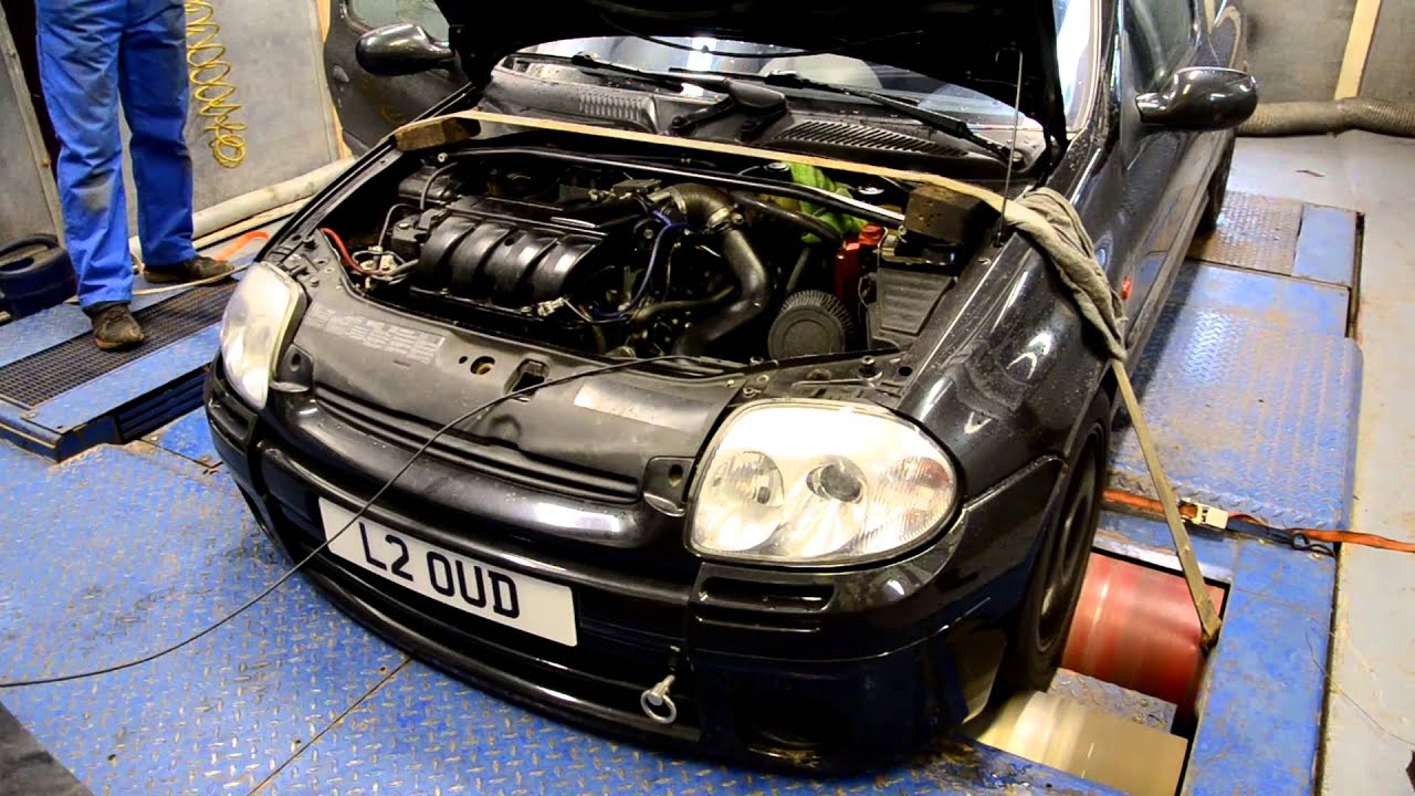 clio 172 turbo made 308bhp on the rollers youtube. Black Bedroom Furniture Sets. Home Design Ideas
