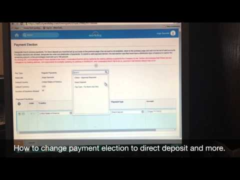 Workday Payment Election Tutorial - YouTube