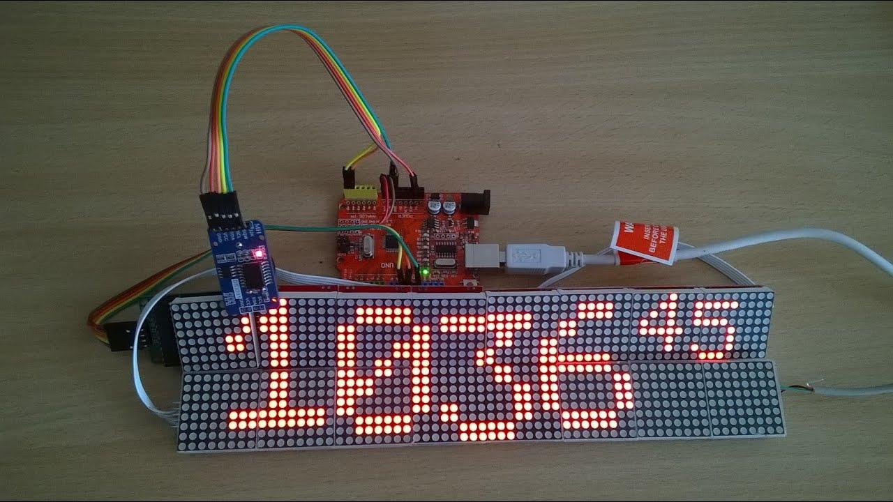 Clock - led panel ledpanel 16pсs 8x2 matrix module MAX7219 16x64 led