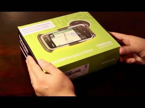 Nokia 5800 Navigation unboxing