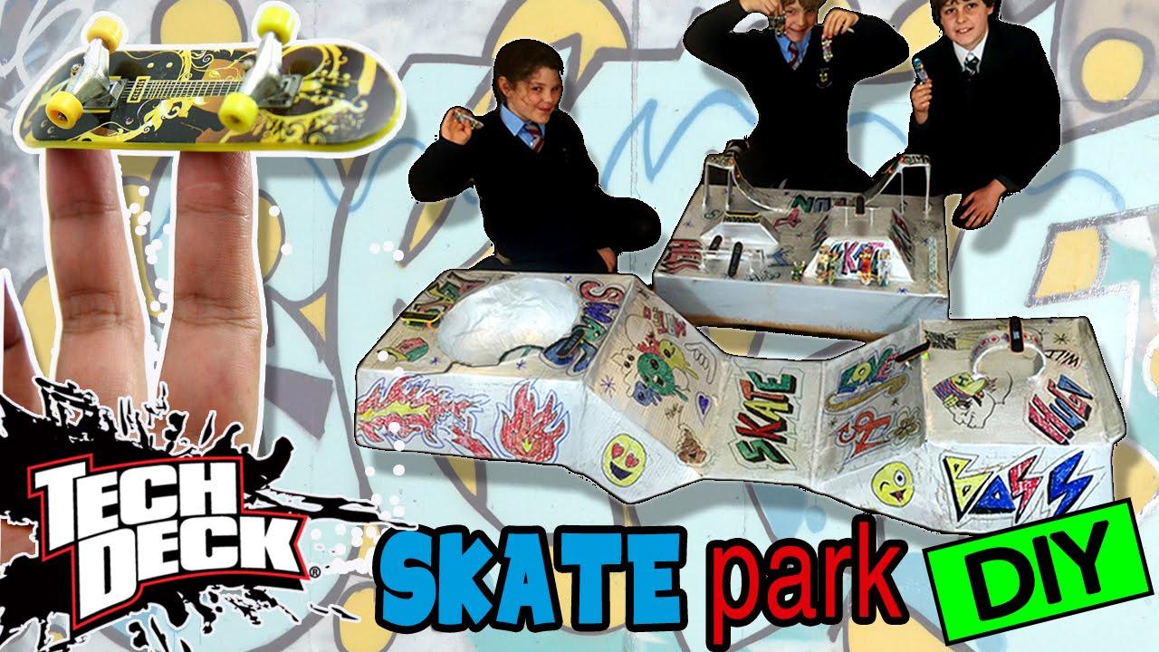 Skate Park Casero Para Tech Deck O Fingerboards Hecho Con Carton Youtube
