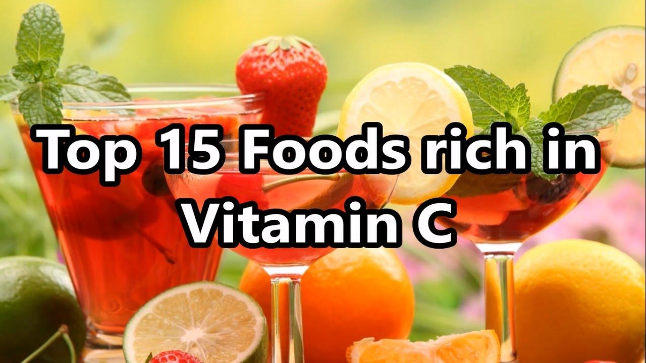 top 15 foods rich in vitamin c