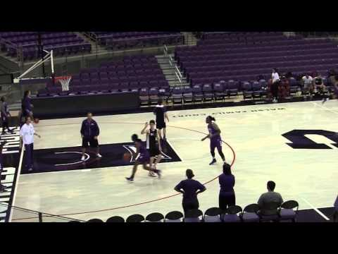 Sights and sounds from TCU women's first practice in Schollmaier Arena