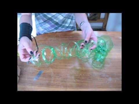 Reciclaje de Botellas Plasticas PET, Manualidades con Tiras e Hilo Ecologico.