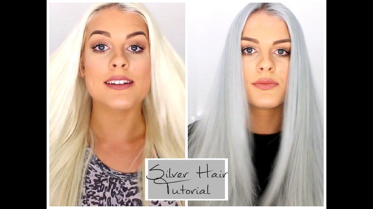 Silver Grey Hair Tutorial Youtube