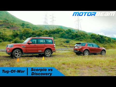 Mahindra Scorpio Vs Land Rover Discovery Sport - Tug Of War | MotorBeam हिंदी