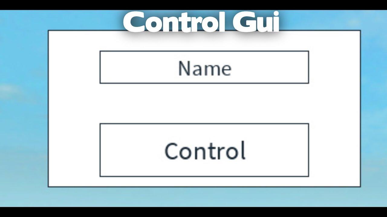 ROBLOX SCRIPT SHOWCASE: Control Gui
