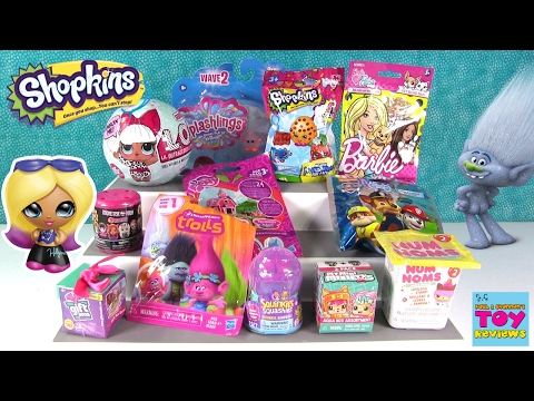 Trolls Gift Ems LOL Surprise Doll Barbie Pets Blind Bag Toy Opening | PSToyReviews