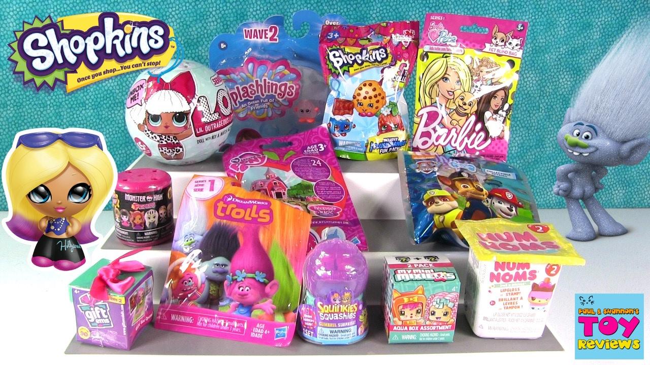 Trolls Gift Ems Lol Surprise Doll Barbie Pets Blind Bag Toy Opening