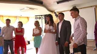Прикол на свадьбе - разбили сервиз