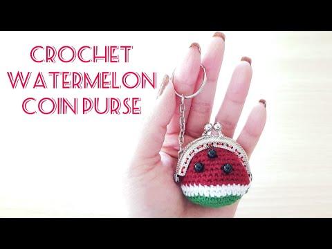 Watermelon Amigurumi Keychain Summer Stocking Stuffer - One Dog Woof | 360x480