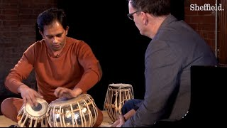 How is time organised in South Asian music?