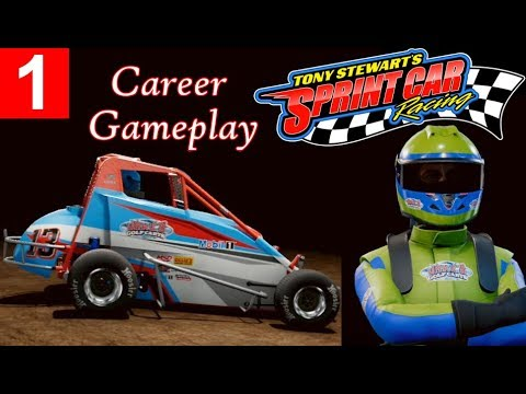 Tony Stewart's Sprint Car Racing Career Gameplay - Midget Showcase Event To Find Sponsors