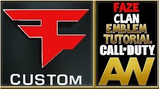 Custom 3D Faze Clan Logo AW Emblem Tutorial : Advanced Warfare