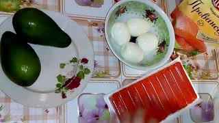 """Нереально Вкусный Салат """"Нежность"""" с Авокадо и Крабовыми Палочками!"""