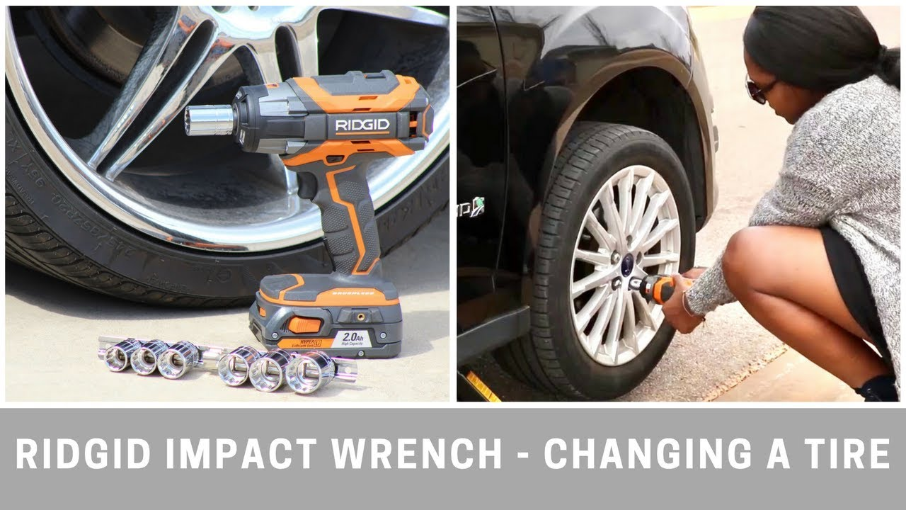 Ridgid 18v Impact Wrench Changing A Tire