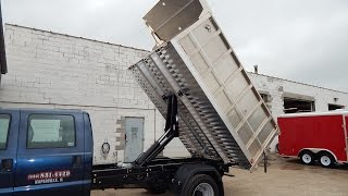 Truckcraft TC503 Storm all aluminum landscape dump body installed by Rondo Trailer