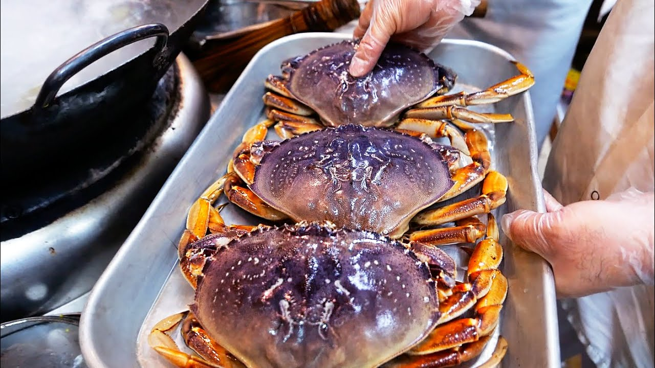 New York City Food - JAPANESE COLD CRABS Park Asia Brooklyn Seafood NYC