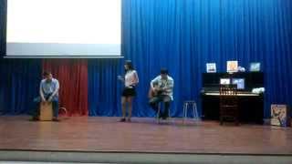 [Vương Hiểu Diệp] - Rước đèn tháng 8 (Guitar Quân Acoustic, Cajon Garu)