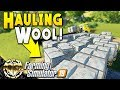 HAULING TONS OF WOOL AND COTTON : Farmin