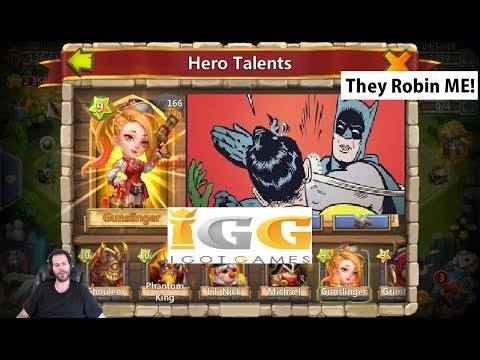 IGG Making Me Cry 24k Gems For Talents + Heroes Castle Clash