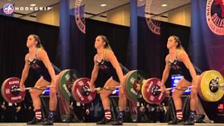 Mattie Rogers (69) - 95kg/98kg/100kg Snatches @ 2015 USAW Nationals