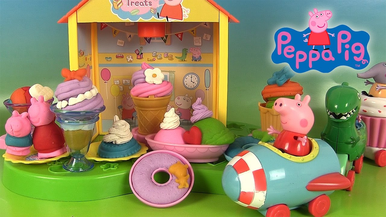 Peppa Pig Pâte à Modeler Softee Dough Peppa S Tea Party Heure Du Thé Youtube