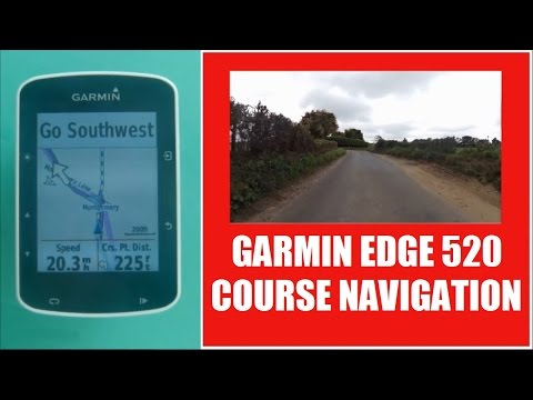 Garmin Edge 520 Course Navigation