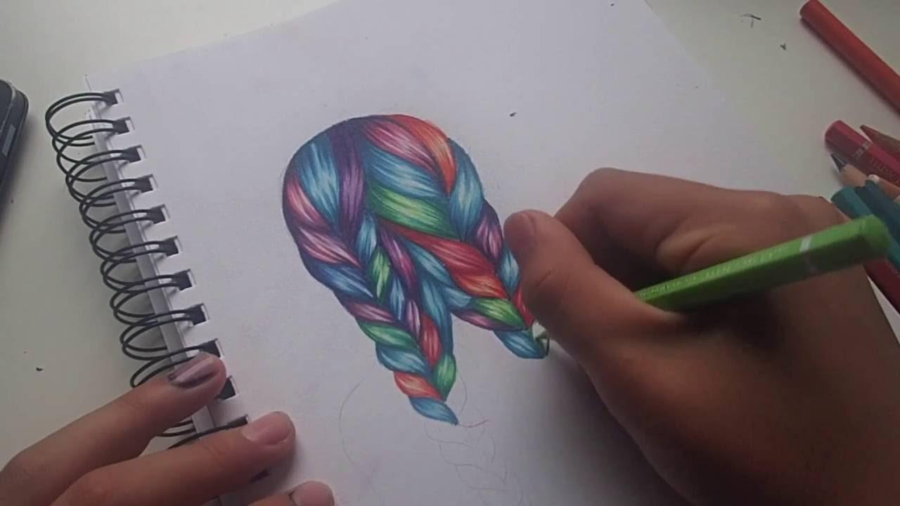 draw rainbow hair