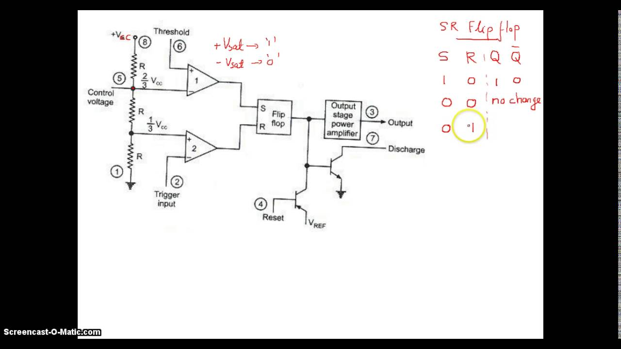 555 Internal Block Diagram Youtube Timer Circuit Monostable Ic