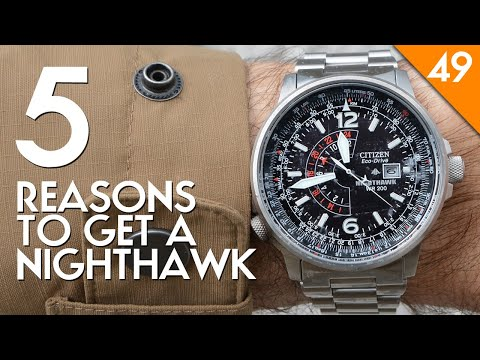 Citizen Night Hawk BJ7000-52E Watch Review - Strap Options, How to Set the GMT, Size