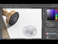 Create Stamp Style Logo Using Rubber Stamp PSD Mockup